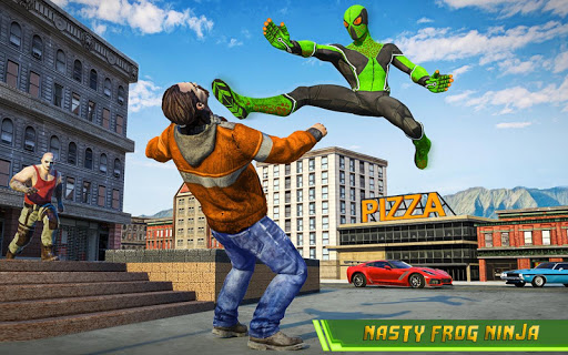 Frog Ninja Hero Gangster Vegas Superhero Games 1.1 screenshots 9
