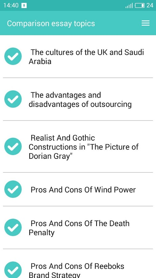 comparison essay topics android apps on google play comparison essay topics screenshot