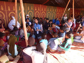 Photo: Educational activities with Ima , hanneke and children of the Sahara