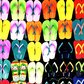 Flip Flops by Jamaluddin Abdul Jalil - Artistic Objects Clothing & Accessories ( sizes, slippers, bangkok, rubber, colors, thailand, flip flops )