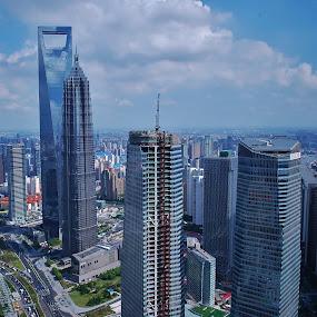 Shanghai, China by Megan Whitehead - City,  Street & Park  Vistas