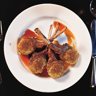 COLORADO LAMB CHOPS with Parmesan-Pine Nut Crust