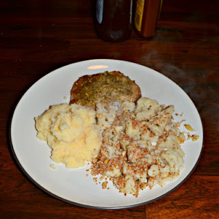 Skillet Roasted Cauliflower with Panko.