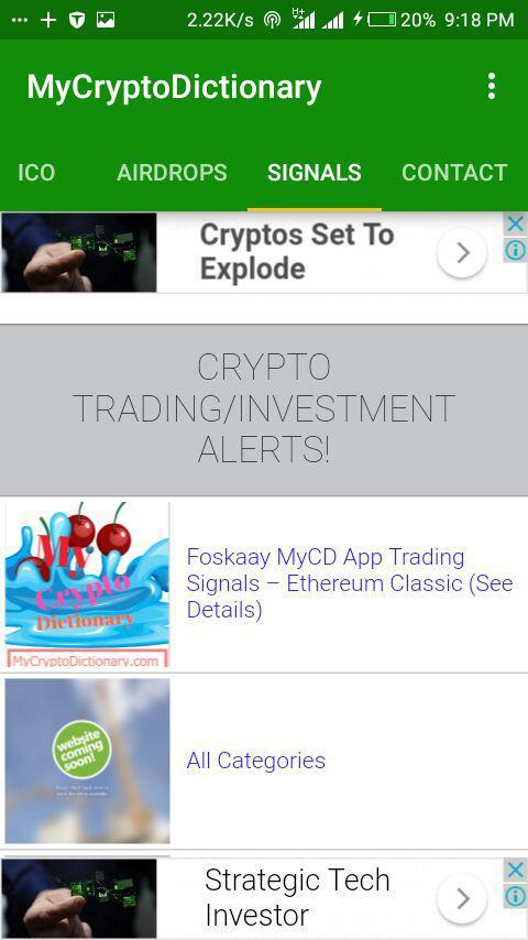 My Crypto Dictionary (MyCD) App- screenshot