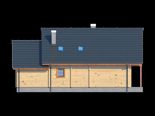 Osiek dw z garażem - Elewacja tylna