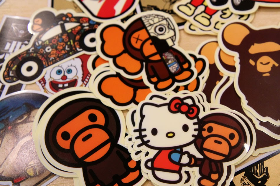 Bathing Ape Stickers Collection