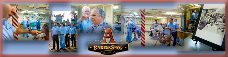 The barbers have generously offered to donate the proceeds to the Battleship IOWA Museum.