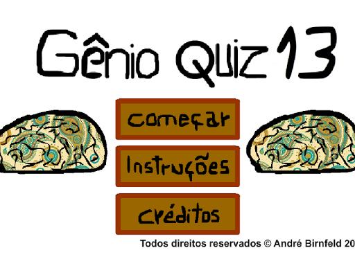 Gênio Quiz 13