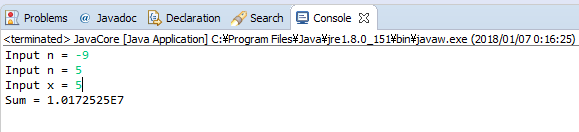 Java - S(n) = x^2 + x^4 +...+ x^2n