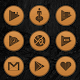 Wooden Radial Icons Download on Windows