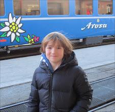 Photo: Arosa, febr. 2011 - met de Arosa_Express omhoog