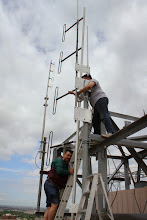 Photo: Setting the antenna in place