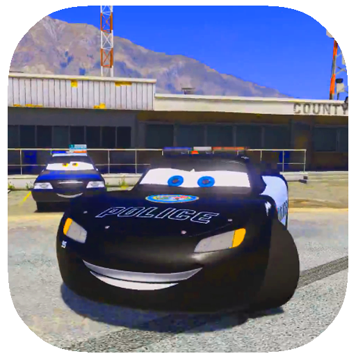 Police Mcqueen Lightning Race Chase