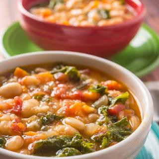 Pressure Cooker Tuscan Bean Soup.