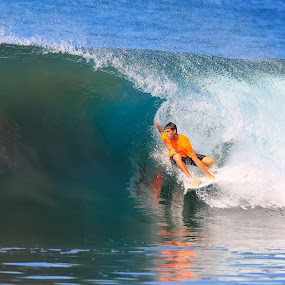 Pulling in by Trevor Murphy - Sports & Fitness Surfing ( other keywords, tmurphyphotography, costa rica, places )