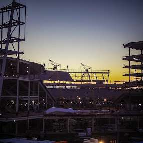 49ers Santa Clara Stadium by Serenity Deliz - Buildings & Architecture Architectural Detail ( civil engineering, building, landscape architecture, development, assembly, elevation, blueprint, engineeringi, develop, ground plan, construction )