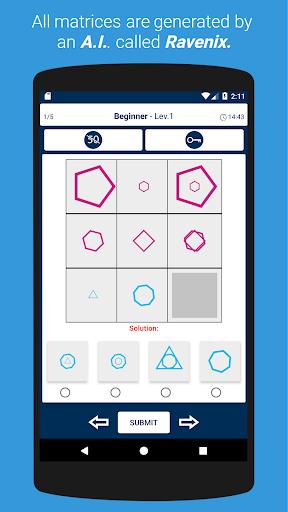 IQ Test: Raven's Progressive Matrices 1.8.5 screenshots 2
