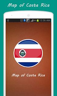 Mapa Kostariky - náhled