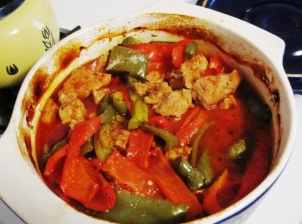 Veal And Peppers Recipe
