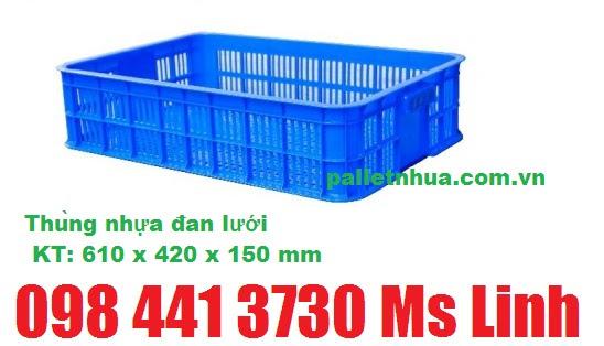 thùng nhựa đan lưới