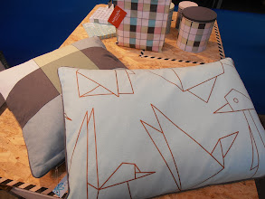 Photo: Origami motifs on pillows by Aspegren, Denmark http://www.aspegren.eu #ambiente14 Like