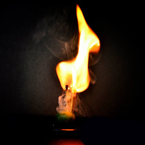 Match Fire by Monico Montero - Artistic Objects Still Life