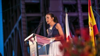 Rosa María García-Malea, durante el pregón de la Feria de Almería 2018.