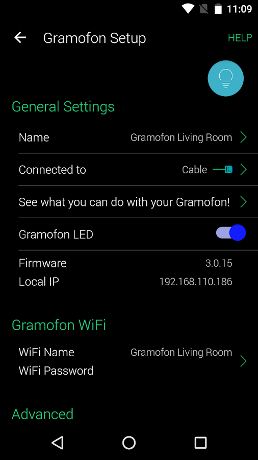 Gramofon Setup- screenshot