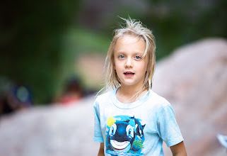 Photo: One of those rare moments when I was able to catch my little one not posing for me and being herself... Canon 70-200 F2.8L at 200mm (aging rare lens for Zion park)