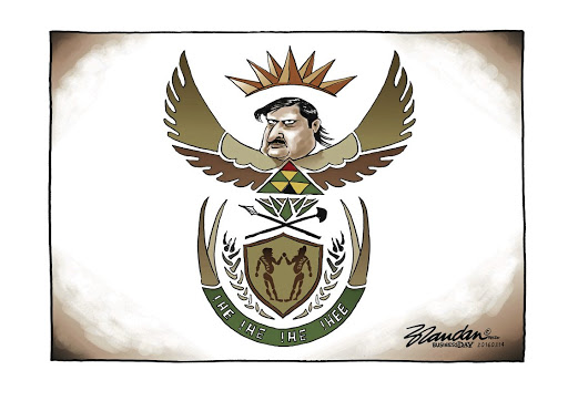 Well-captured: Business Day cartoonist Brandan Reynolds's take on state capture helped him win the Standard Bank Sikuvile Journalism Award for editorial cartoons. Picture: SUPPLIED