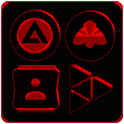 Black and Red Icon Pack Free icon