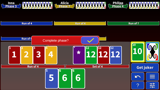 Phase Rummy 2: card game with 10 phases - screenshot