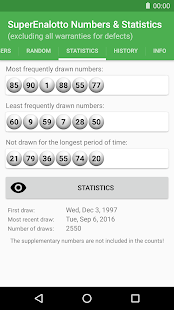 SuperEnalotto Numbers & Statistics - náhled