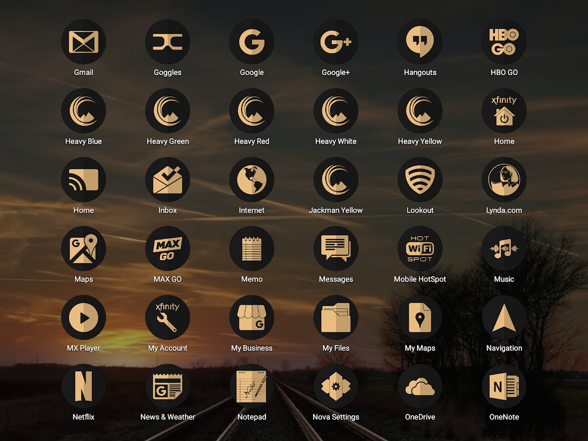 Absolute Clean Icon Pack: captura de pantalla