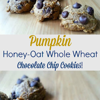 Pumpkin Honey-Oat Whole Wheat Chocolate Chip Cookies!