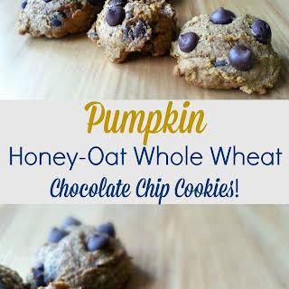 Pumpkin Honey-Oat Whole Wheat Chocolate Chip Cookies!.