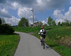 Photo: ponure prognozy się nie sprawdzają jak na razie - pogoda bardzo przyjemna na rower