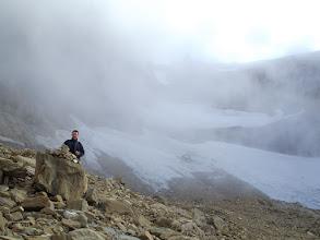 Photo: L'Esteve amb la glacera del Taillón