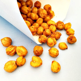 Crunchy Roasted Chickpeas With A Chilli Kick.
