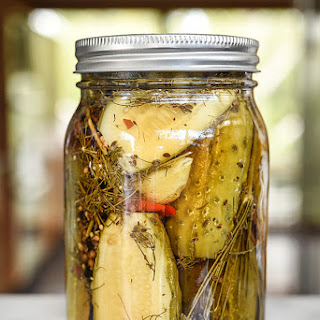 Spicy Killer Garlic Dill Pickles.