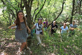 Photo: Начинаем подъем в гору, чтобы хорошенько рассмотреть необыкновенные скалы - остатки сарматских отложений.