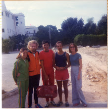 Photo: Tunis, 1974: Jacqueline, Tom, Mohamed Gammoudi, Hirro Hadjeri, Pam