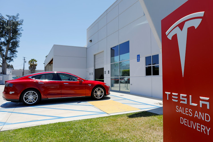 A Tesla sales and service center in Costa Mesa, California, US. (File photo)