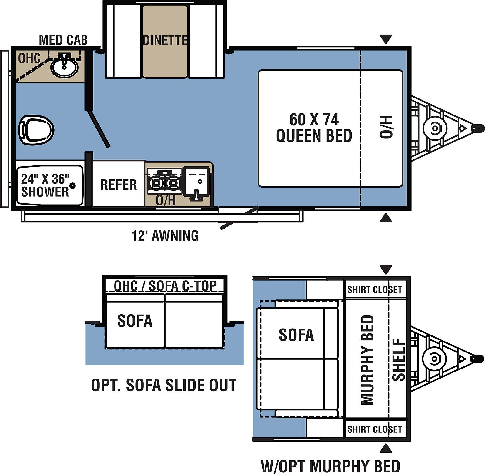 coachmen clipper ultra light floor plan
