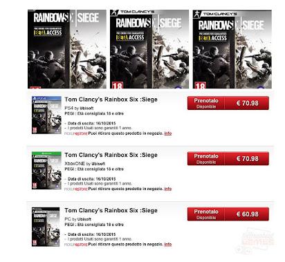 Rainbow Six Siege Gamestop