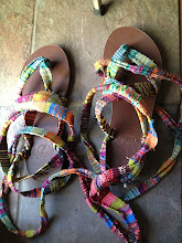 Photo: my third pair of saori woven straps for my sandals