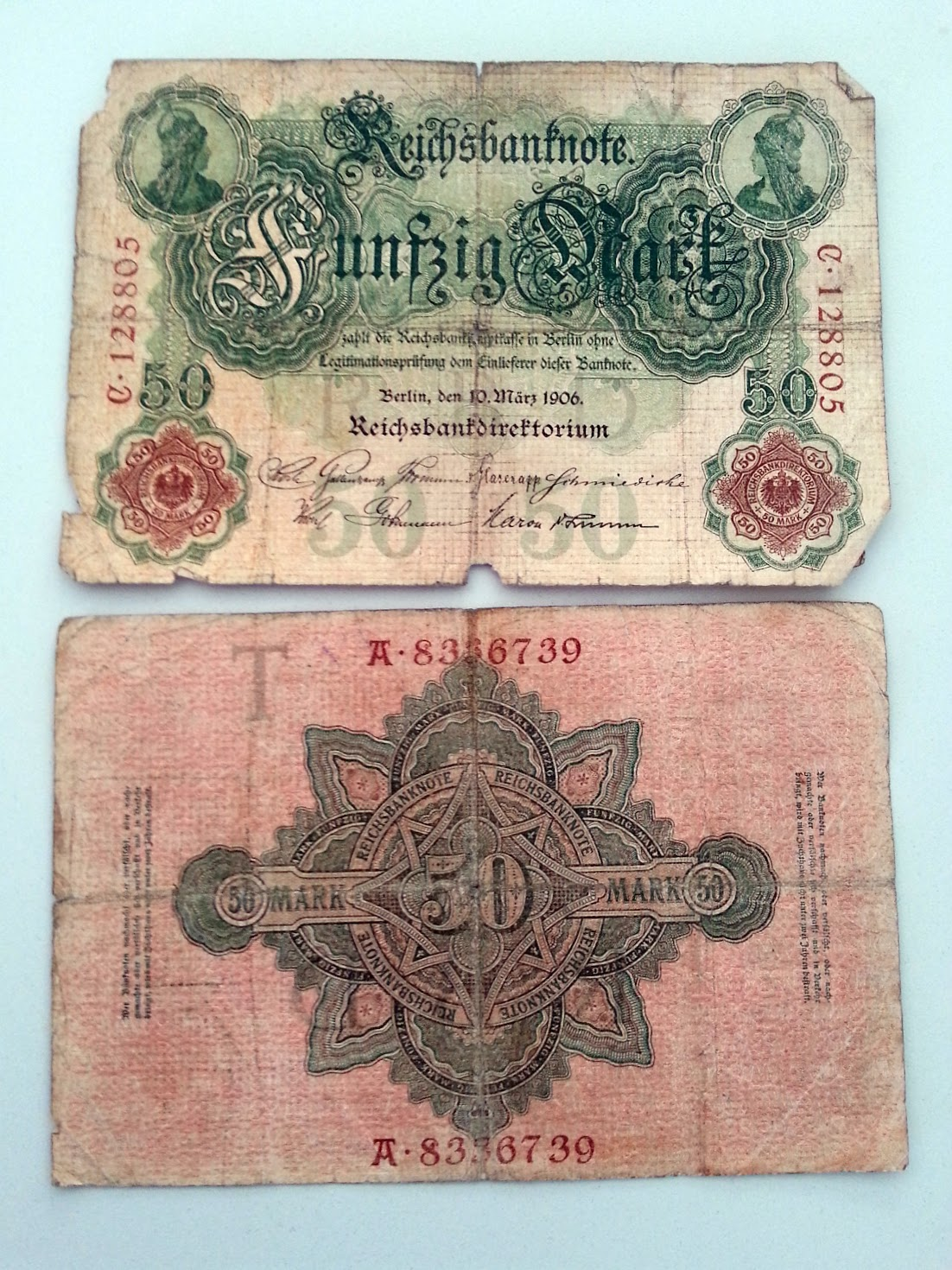 Reichsbank 50 Mark 1906 1914