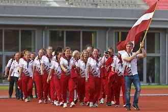 Photo: Openings ceremonie tijdens het EC Lacrosse 2012 in het Olympisch Stadion in Amsterdam op 20-06-2012.