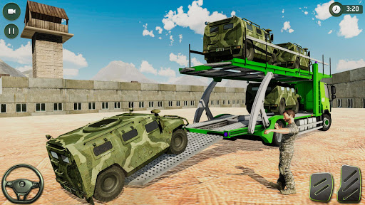 US Army Transporter: Truck Simulator Driving Games  captures d'écran 1