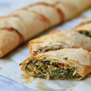Filo Roll with Swiss Chard and Ricotta